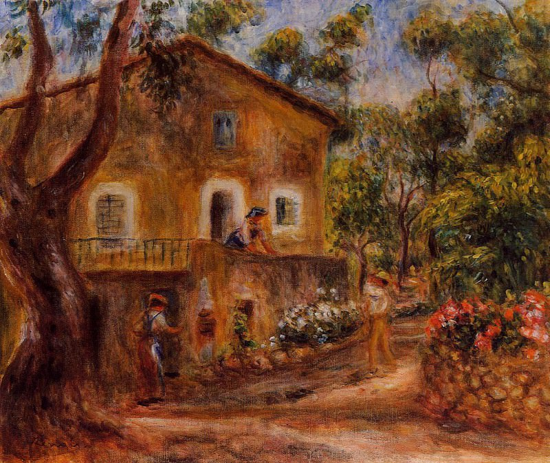 House in Collett at Cagnes - 1912. Pierre-Auguste Renoir