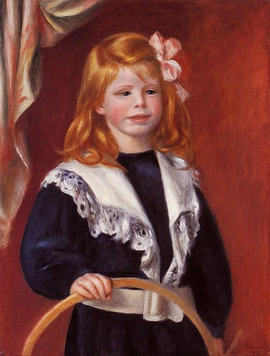 Portrait of Jean Renoir (also known as Child with a Hoop) - 1898. Pierre-Auguste Renoir