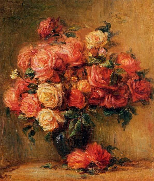 Bouquet of Roses - около 1890-1900. Pierre-Auguste Renoir