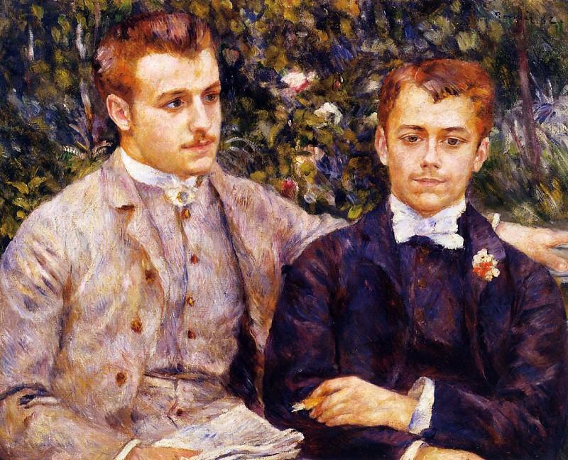 Charles and Georges Durand-Ruel - 1882. Pierre-Auguste Renoir