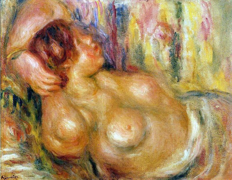 Femme a la Poitrine, Nue Endormie - 1919. Pierre-Auguste Renoir