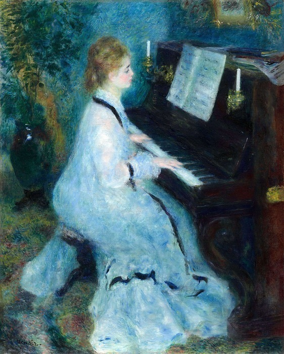Young Woman at the Piano - 1876. Pierre-Auguste Renoir