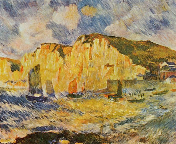 Cliffs - 1883. Pierre-Auguste Renoir