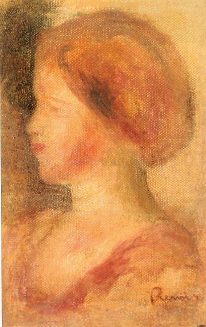 Portrait of a Young Girl - 1895. Pierre-Auguste Renoir