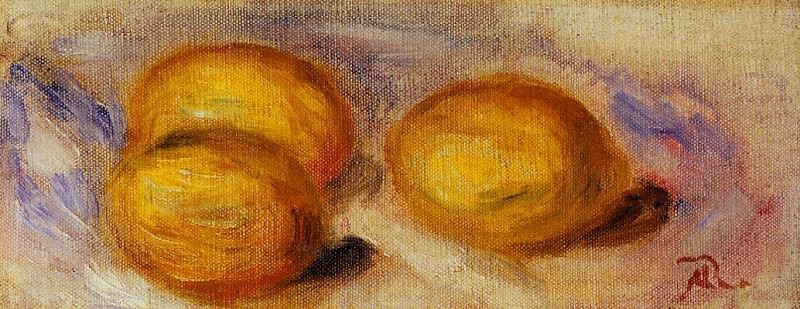 Three Lemons - 1918. Pierre-Auguste Renoir