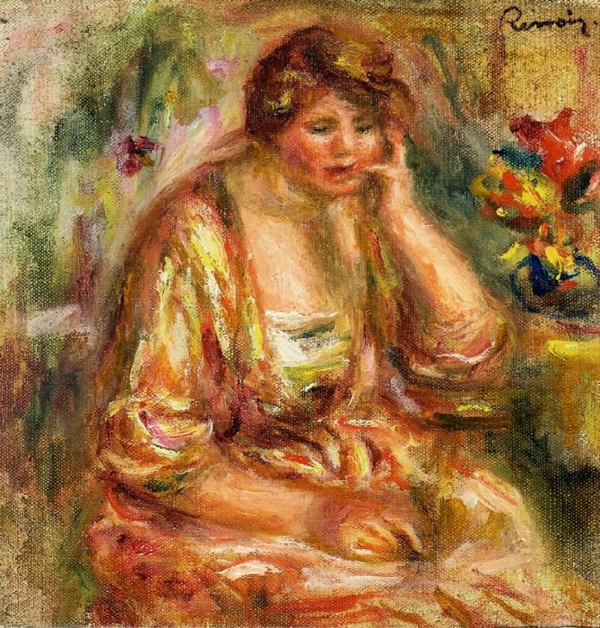 Andree in a Pink Dress - 1917. Pierre-Auguste Renoir