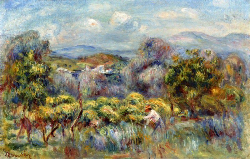 Orange Trees. Pierre-Auguste Renoir