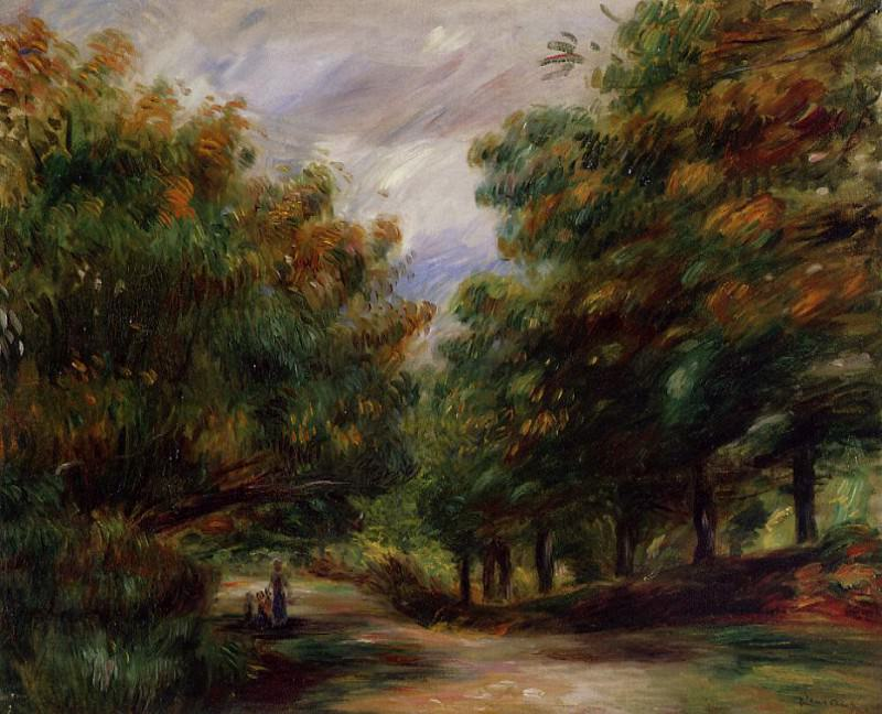 Road near Cagnes - 1905. Pierre-Auguste Renoir