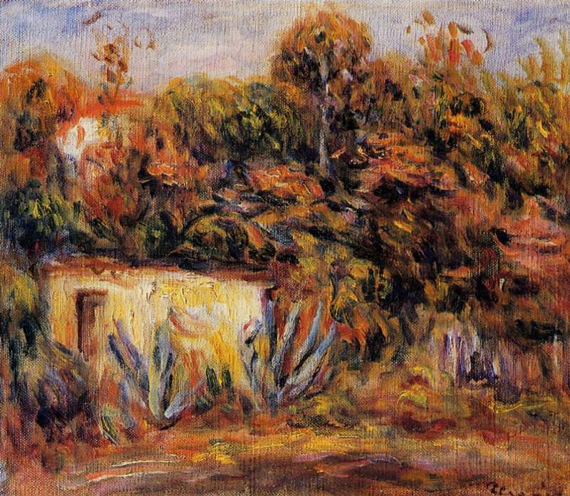 Cabin with Aloe Plants - 1913. Pierre-Auguste Renoir