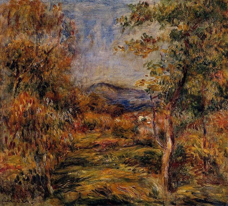 Cagnes Landscape3. Pierre-Auguste Renoir