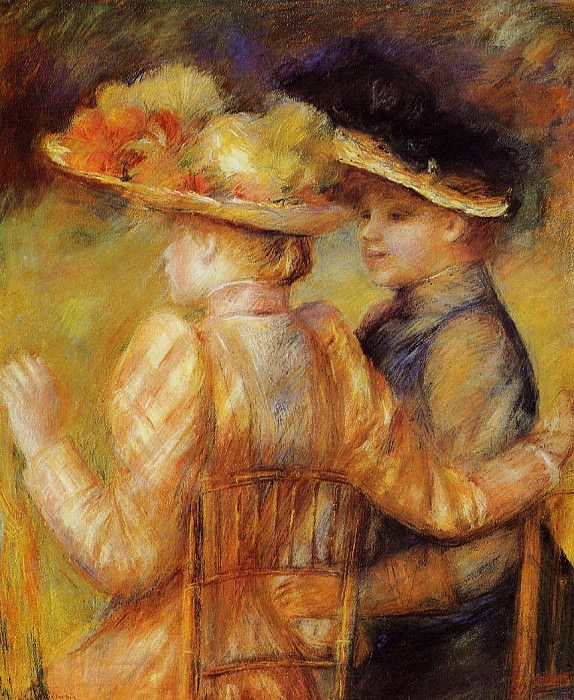 Two Women in a Garden - 1895. Pierre-Auguste Renoir