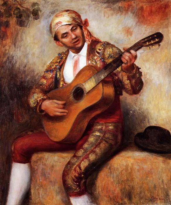 The Spanish Guitarist - 1897. Pierre-Auguste Renoir