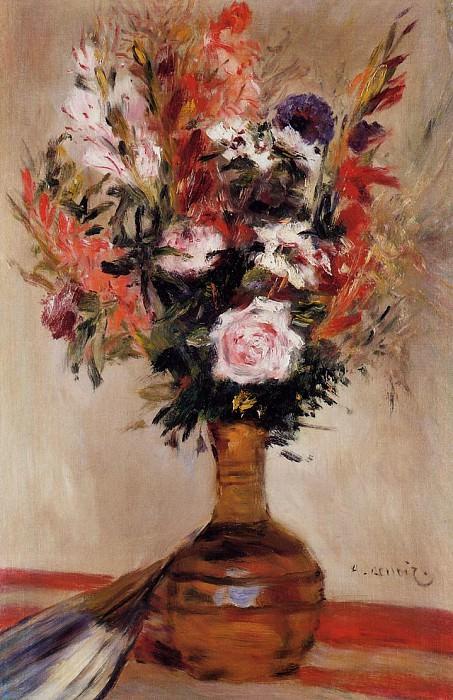Roses in a Vase - 1872. Pierre-Auguste Renoir