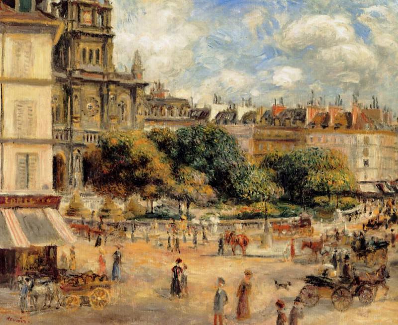 Place de la Trinite - 1893. Pierre-Auguste Renoir