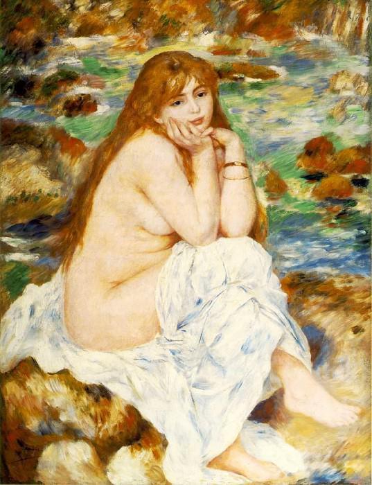 Seated Bather - 1883 -1884. Pierre-Auguste Renoir