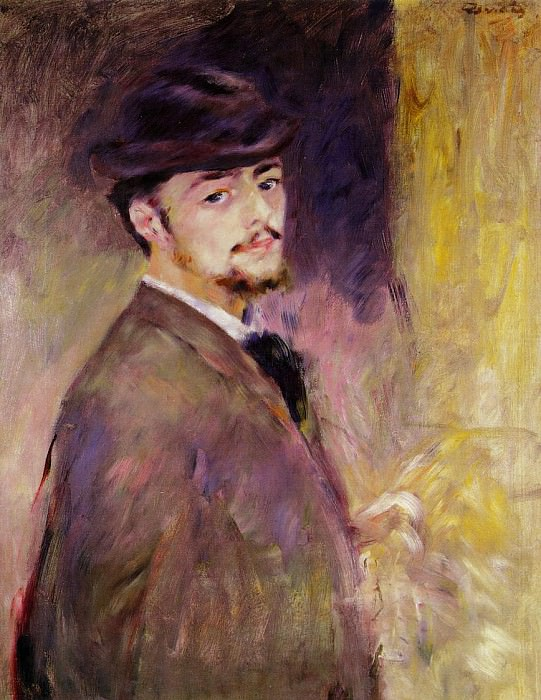 Self Portrait at the Age of Thirty-Five - 1876. Pierre-Auguste Renoir