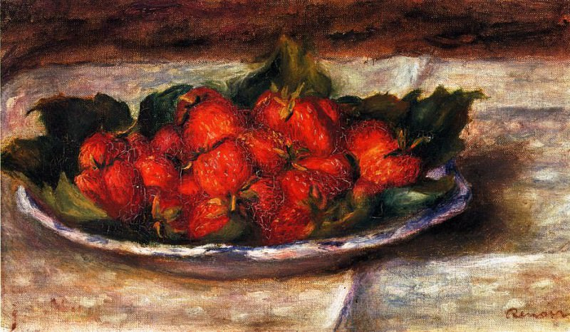Still Life with Strawberries - 1880. Pierre-Auguste Renoir