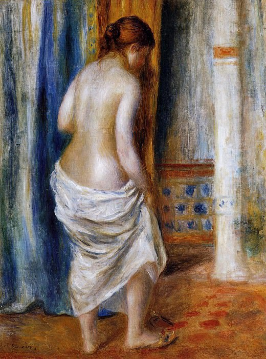 The Bathrobe - 1889. Pierre-Auguste Renoir