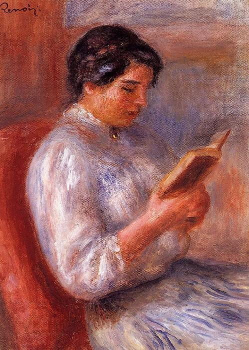 Woman Reading - 1906. Pierre-Auguste Renoir