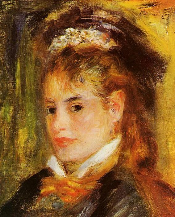 Portrait of a Young Woman - 1876. Pierre-Auguste Renoir