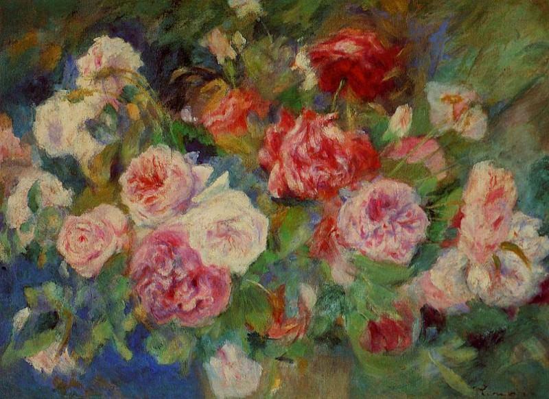 Roses - 1885. Pierre-Auguste Renoir