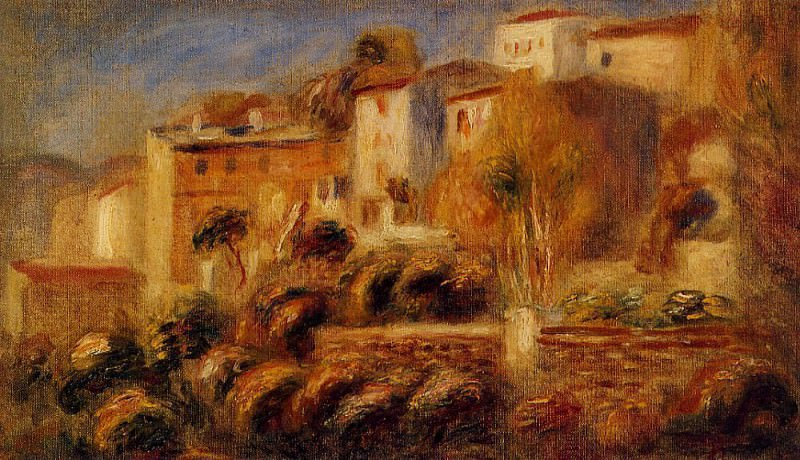 Houses at Cagnes - 1910. Пьер Огюст Ренуар