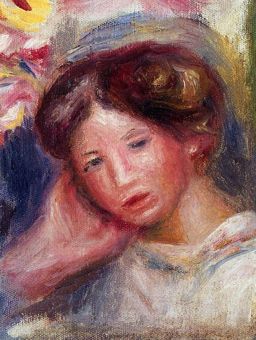 Womans Head - 1905. Пьер Огюст Ренуар