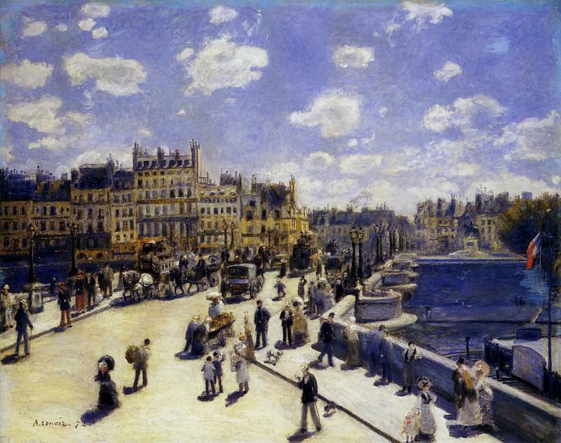 Le Pont-Neuf, Paris - 1872. Pierre-Auguste Renoir