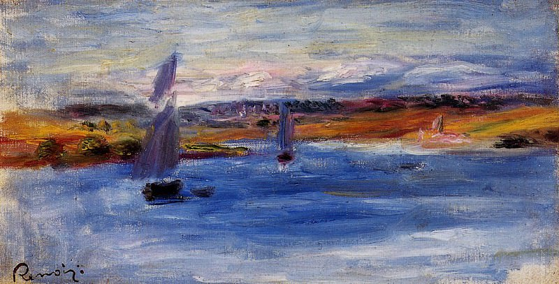Sailboats - 1885. Пьер Огюст Ренуар