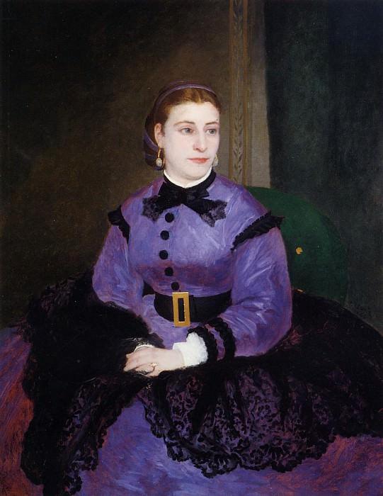 Portrait of Mademoiselle Sicotg - 1865. Pierre-Auguste Renoir