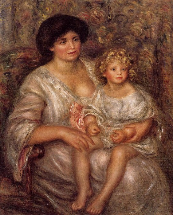 Madame Thurneyssan and Her Daughter - 1910. Пьер Огюст Ренуар