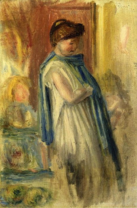 Young Woman Standing - 1895. Pierre-Auguste Renoir