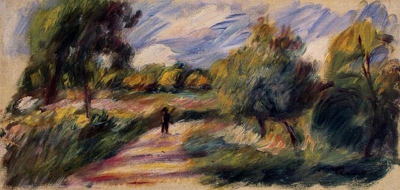 Landscape - 1890. Pierre-Auguste Renoir