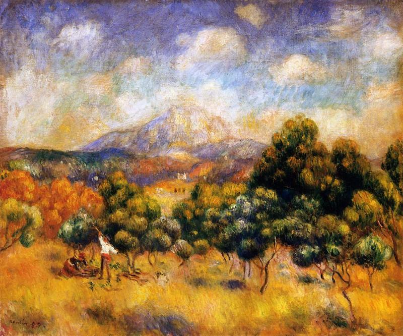 Mount Sainte-Victoire - 1889. Pierre-Auguste Renoir