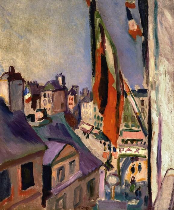 Flag Decorated Street - 1906. Pierre-Auguste Renoir