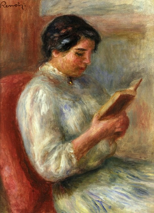 Woman Reading - 1906. Пьер Огюст Ренуар