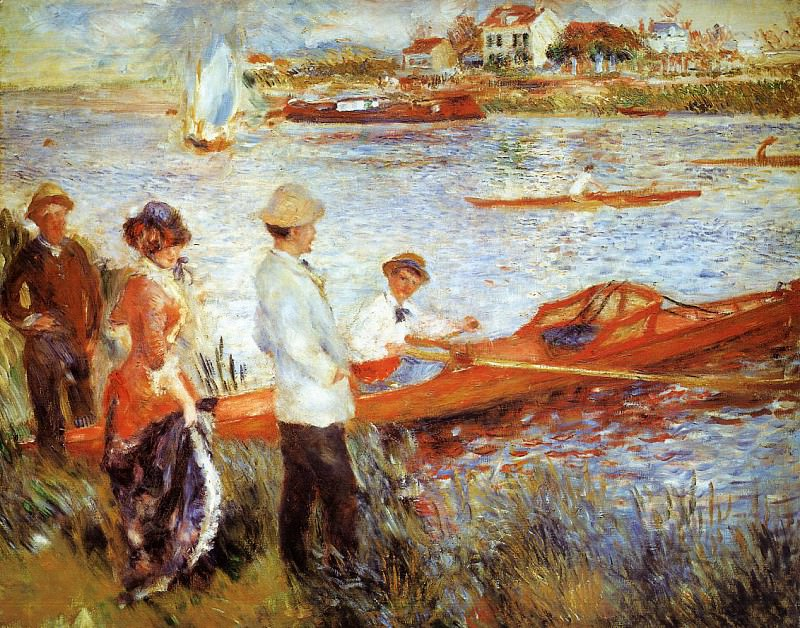 Oarsmen at Chatou - 1879. Pierre-Auguste Renoir