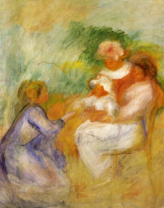 Women and Child - 1896. Pierre-Auguste Renoir