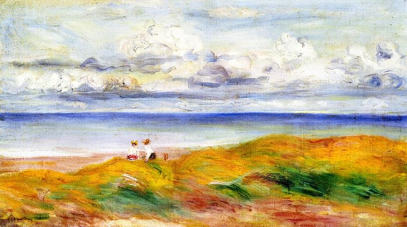 On a Cliff - 1880. Pierre-Auguste Renoir