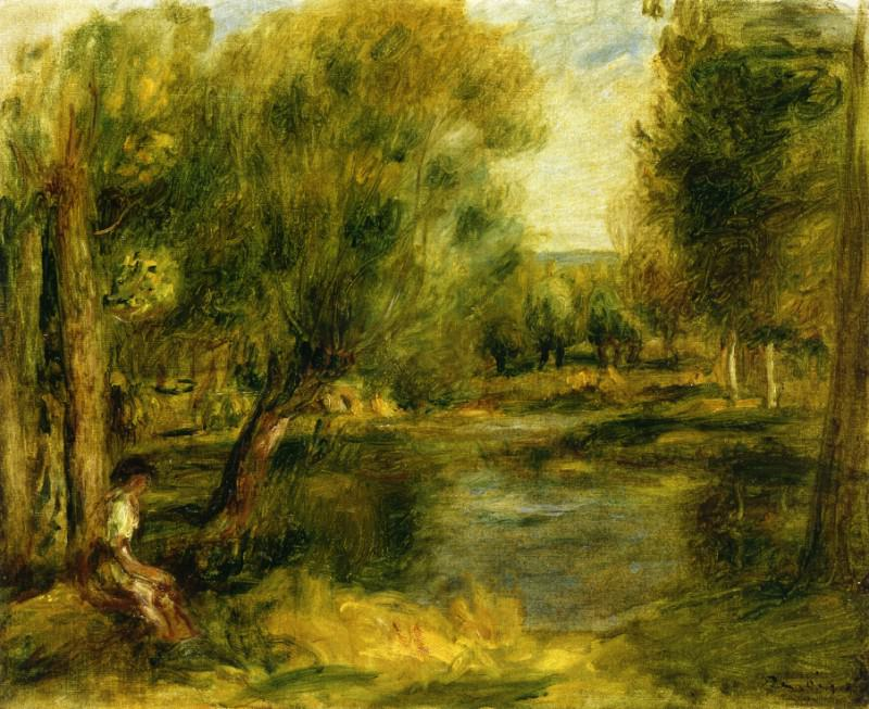 Banks of the River2. Pierre-Auguste Renoir