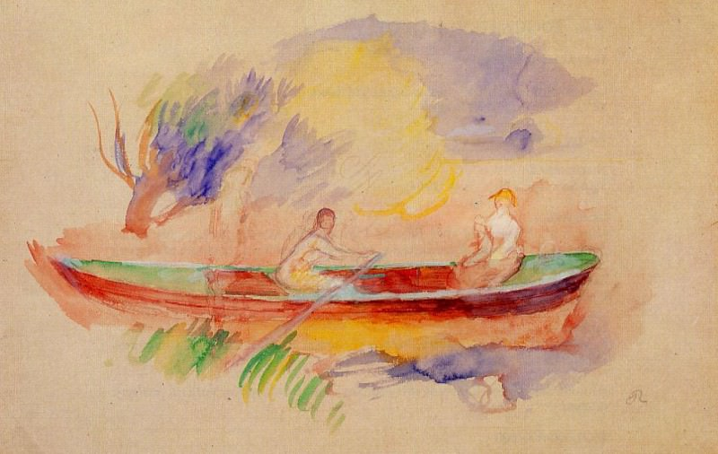Two Women in a Rowboat. Пьер Огюст Ренуар