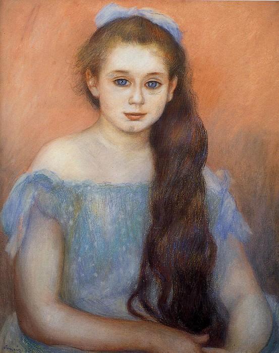 Portrait of a Young Girl. Pierre-Auguste Renoir