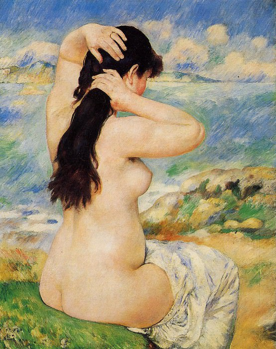 Nude Fixing Her Hair - 1885. Пьер Огюст Ренуар