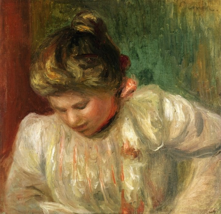Bust of a Girl - 1900. Пьер Огюст Ренуар