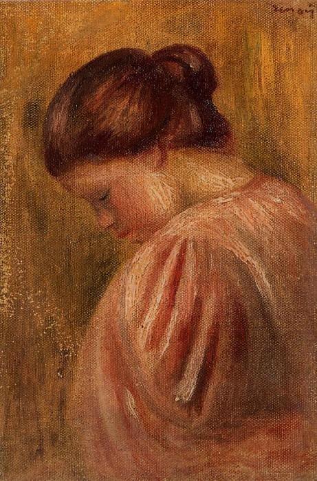 Portrait of a Girl in Red - 1883. Pierre-Auguste Renoir