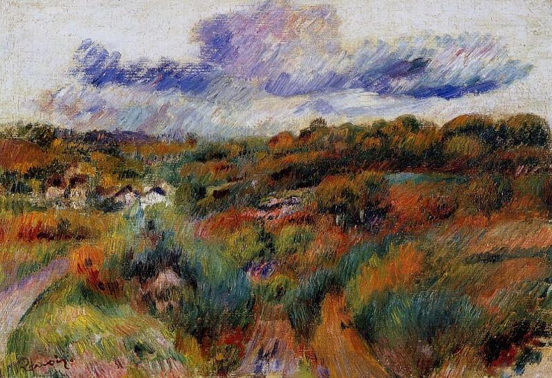 Landscape - 1893. Pierre-Auguste Renoir