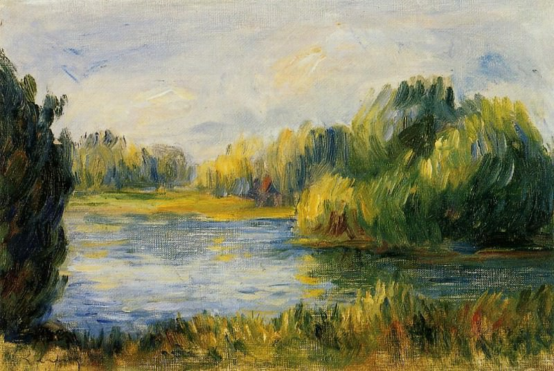 The Banks of the River. Pierre-Auguste Renoir