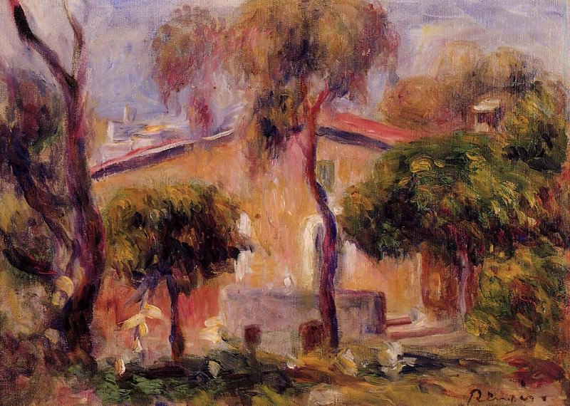 Houses in Cagnes - 1908. Пьер Огюст Ренуар
