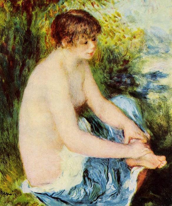 Small Nude in Blue - 1879. Pierre-Auguste Renoir