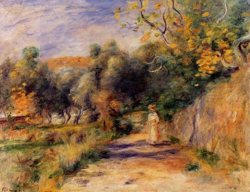 Landscape at Cagnes - 1907 -1908. Pierre-Auguste Renoir